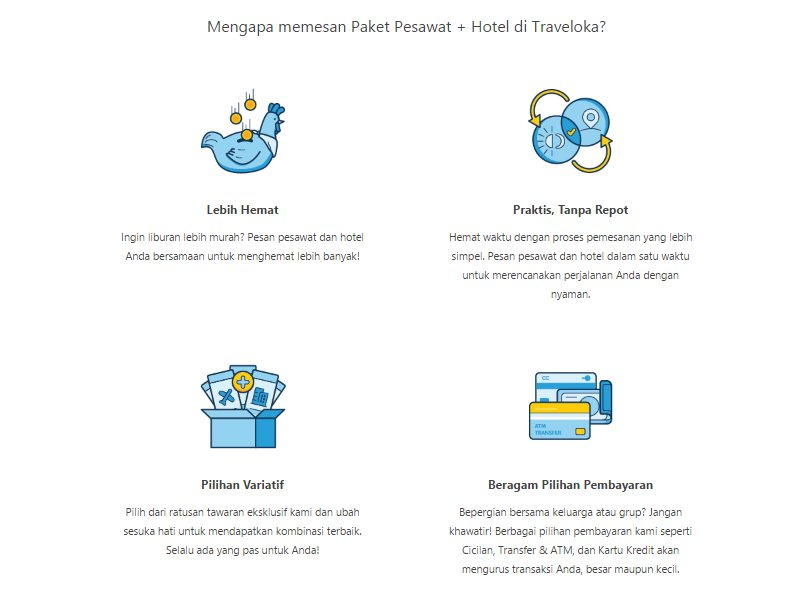Traveloka tiket dan hotel package