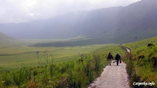 Trekking ringan di Lembah Teletubies, Taman Nasional Bromo Tengger Semeru