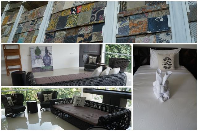 Furniture yang ada di villa pun kesannya unik, perpaduaan arsitektur klasik dan modern.