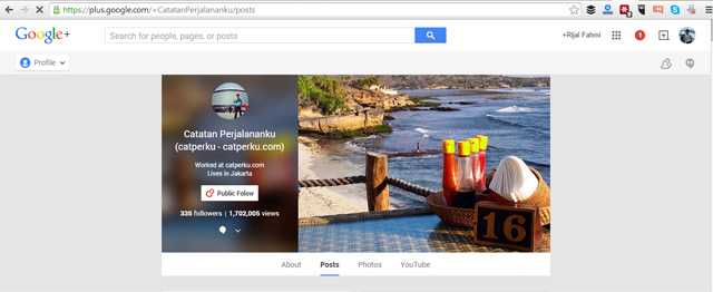 Akun Google Plus Catperku