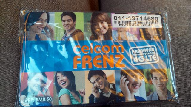 Kartu seluler yang saya gunakan selama di Malaysia. Kata teman terlalu  mahal sih untuk 39 RM.