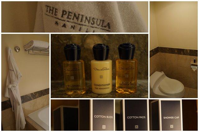 Segala macam perlengkapan kamar mandi yang tinggal dipakai saja. Semua sudah tersedia di The Peninsula Hotel Manila :D