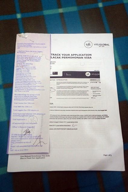 Setelah memasukkan dokumen yang diperlukan ke AVAC dan membayarnya, saya mendapatkan ini.