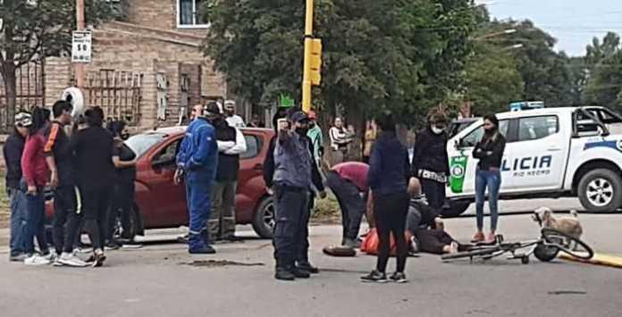 Catriel: Dos accidentes de tránsito. Una mujer resultó herida
