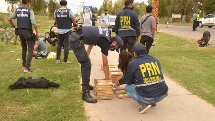 Policía Rionegrina secuestró más de 40 kilos de droga