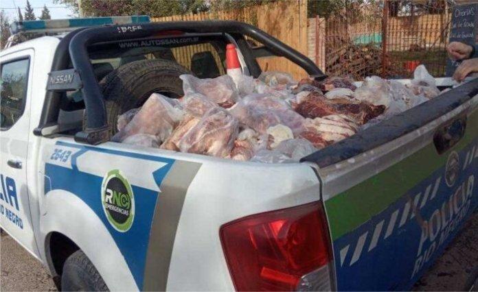 Decomisan carne en mal estado en Catriel y zona