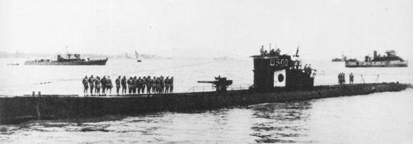 IJN Ro-500 (ex U-511), en 1943.