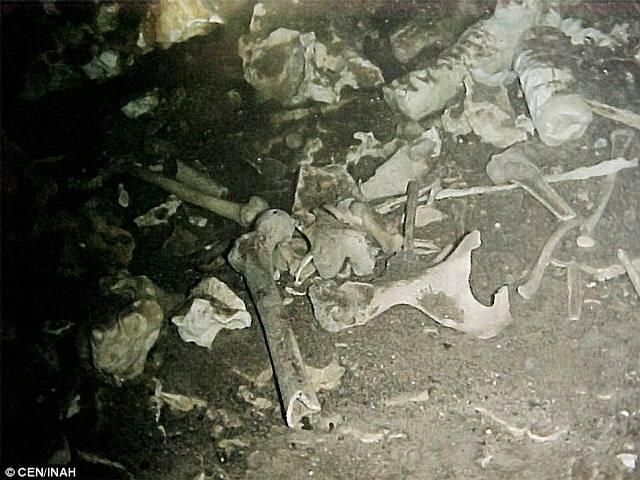 Restos de la Eva maya.