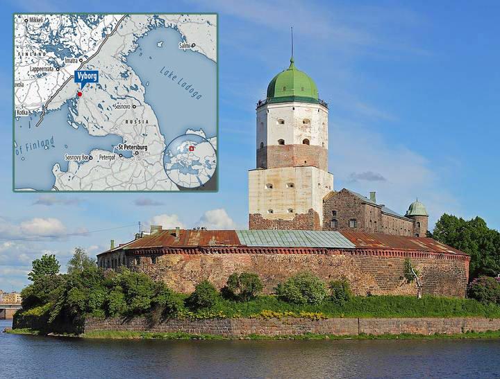 Las excavaciones en el castillo de Vyborg (foto) son parte de una renovación financiada recientemente.