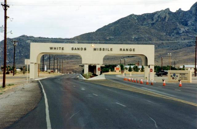 White Sands Missile Range.