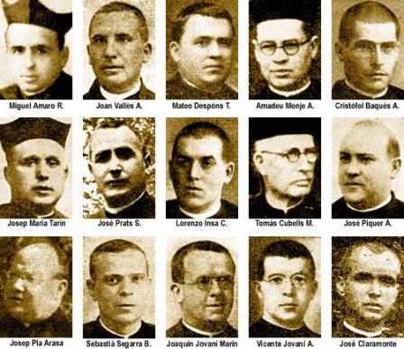 Resultado de imagen de curas asesinados guerra civil martir