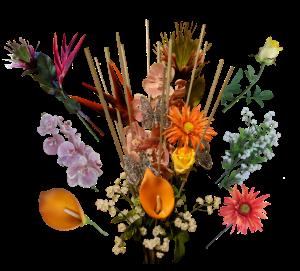 combo flowers transperant