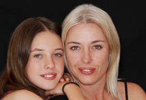 clear skin mom & daghter