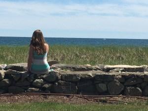 Tori overlooking Craigville Beach.