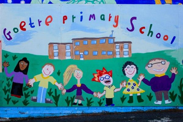 Goetre Primary School Mural Catrin Doyle