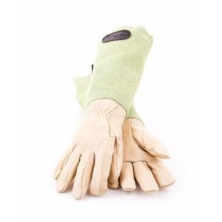 Bradleys Gants en cuir de daim Vert
