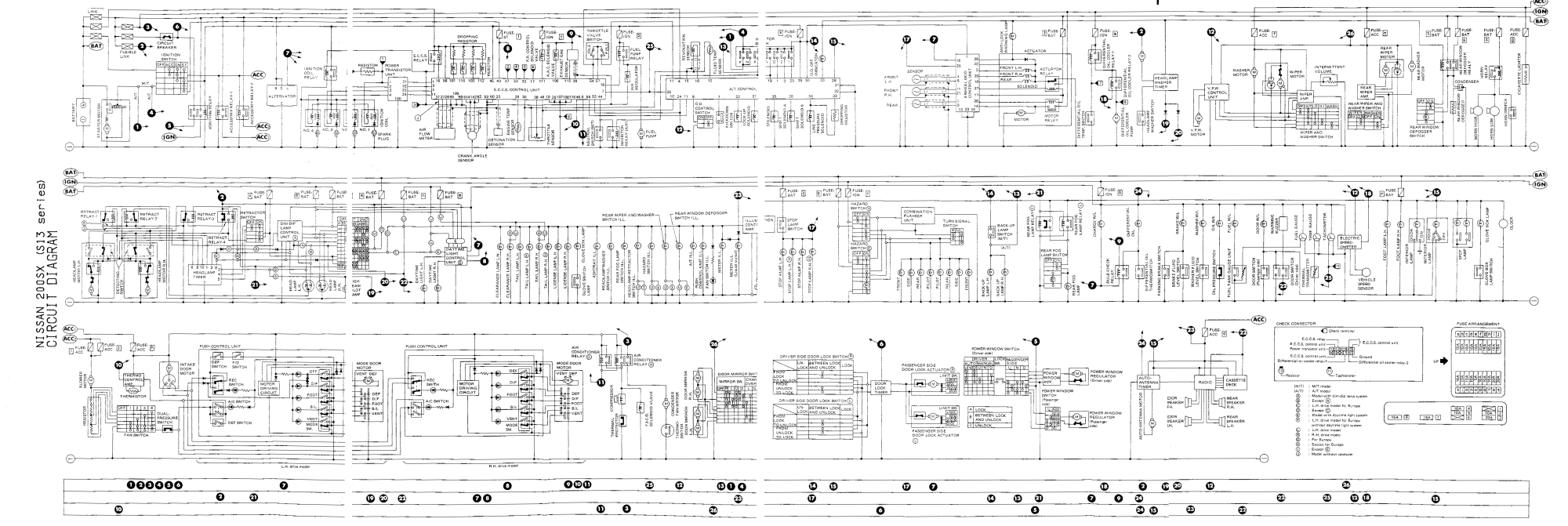 hight resolution of s13 wiring diagrams nissan 240sx radio wiring diagram nissan s13 wiring diagram