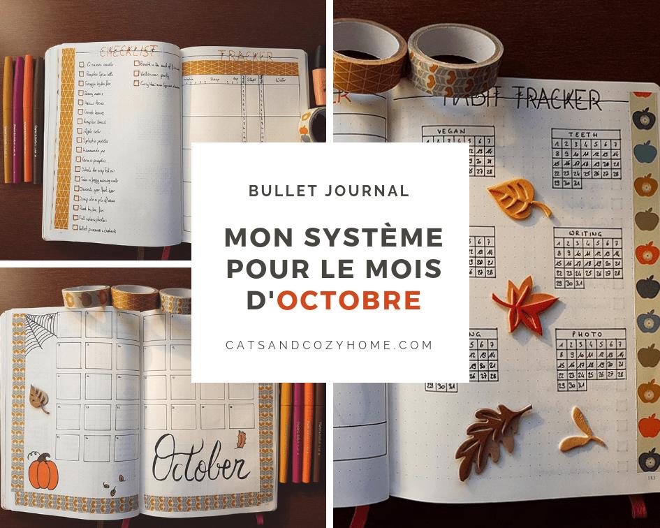 Bullet Journal - Mon système pour le mois d'Octobre