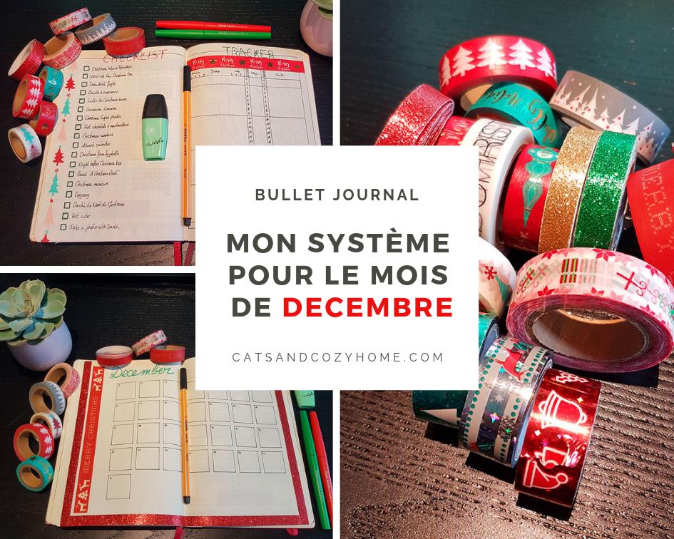 Bullet Journal - Mon système pour le mois de Décembre