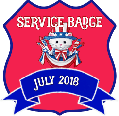 Service Badge: July 2018