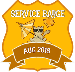 Service Badge: August 2018