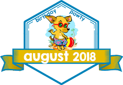 Party Badge: August 2018 Birthdays