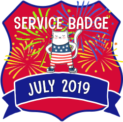 Service Badge: July 2019