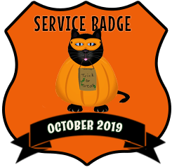 Service Badge: October 2019