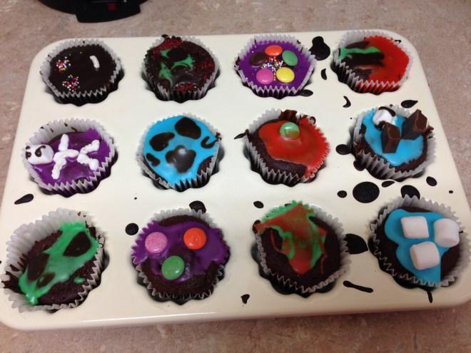 halloween cupcakes novel progress