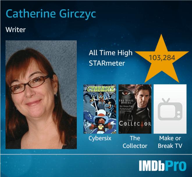 Cat Girczyc SFF Writer IMDBProd card