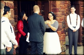 Made my officiant cry and my best man laugh. I think I was doing it right.
