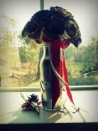 Paper flower bouquet.