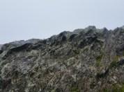 Foggy rocks.