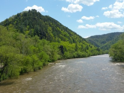 French Broad River from bridge.