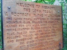 Long Trail Sign