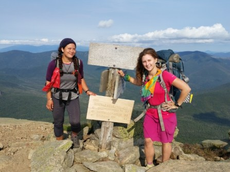 Rainbow and I on Franconia Ridge for my bday.