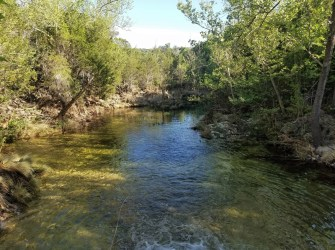 Water crossing on the Spicewood Springs Trail.