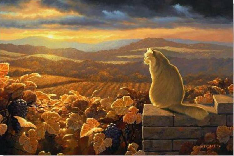 Image result for cats in Fall paintings