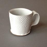 diamond pattern mug