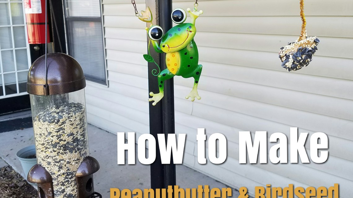 How to Make Peanut Butter and Pine Cone Birdfeeders