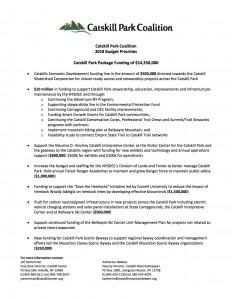 Catskill Park Coalition - Budget Priorities 2018 (Final)
