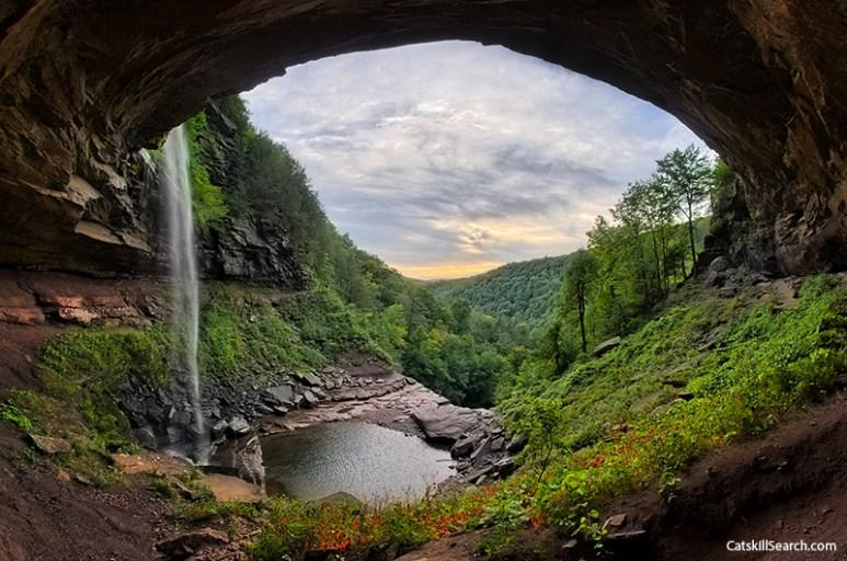 Under Kaaterskill Falls