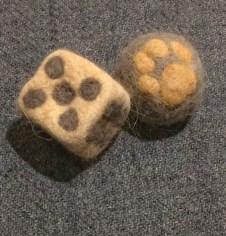 cat fur dice