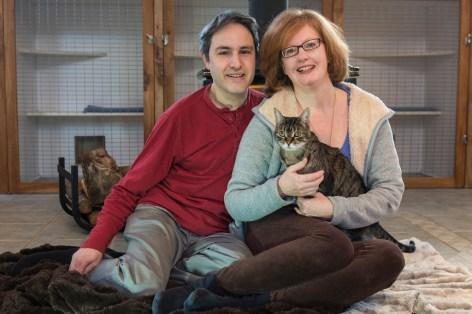 David, Cassandra, and Tabby