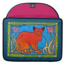 Indian Cat With Lilies Case from Cats of Karavella Collection