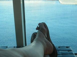 My new Greek-style sandals!
