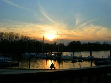 Old Town Alexandria marina sunset