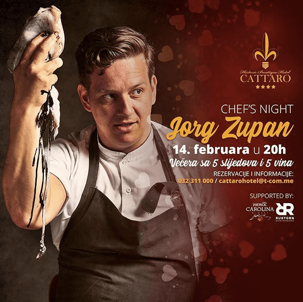 Chef's Night with Jorg Zupan at Cattaro Hotel