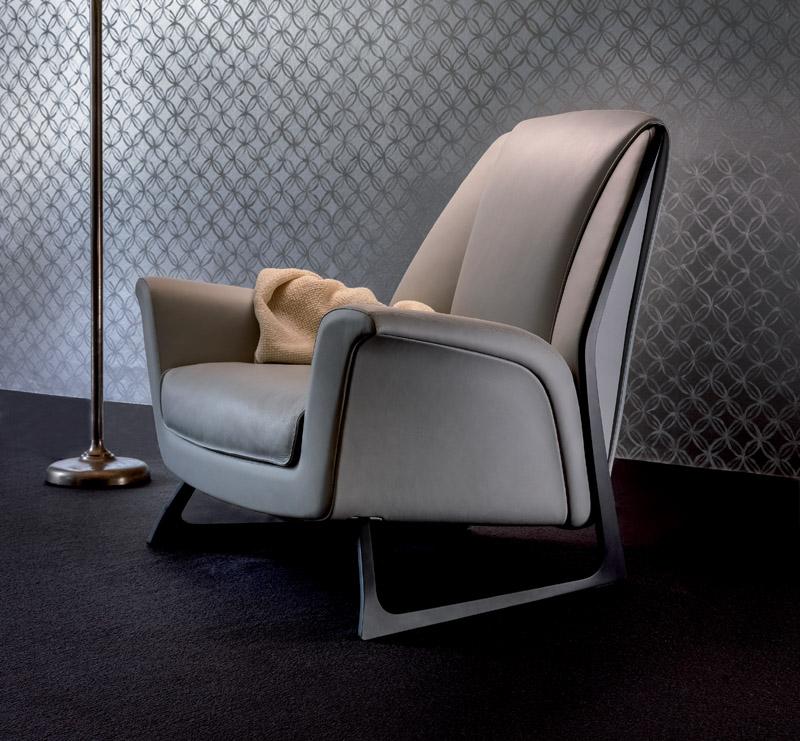 sofa seat cover design clean fabric at home armchair luft by poltrona frau | cattelan arredamenti e ...