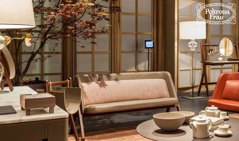 Ren small armchair and sofa by Poltrona Frau  Cattelan